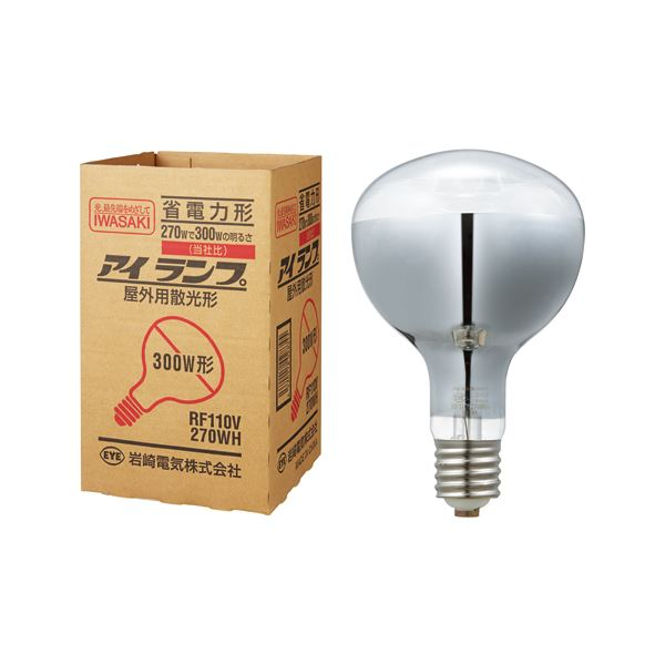(まとめ) 岩崎電気 屋外投光用アイランプ 散光形300W形 E39口金 RF110V270WH 1個 【×10セット】