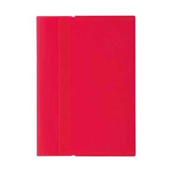 (まとめ)リヒトラブ ワンタッチホルダー A4 赤F-3445-3 1パック(4枚)【×50セット】