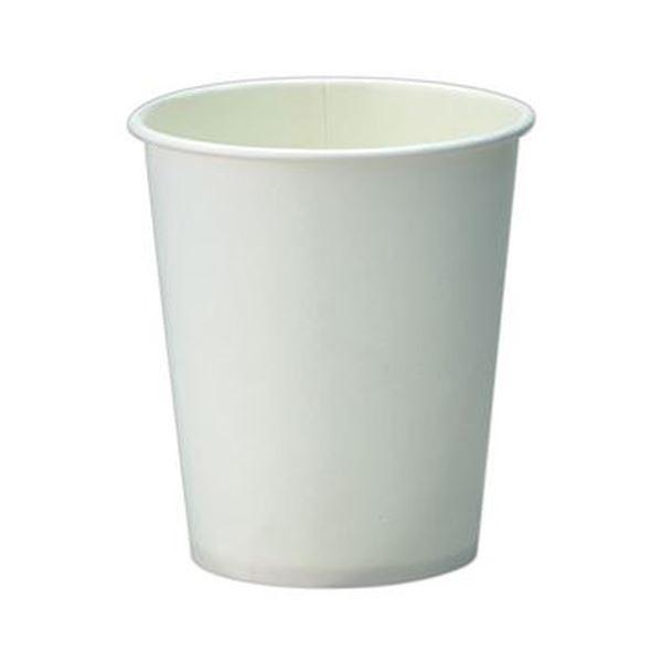 (まとめ)TANOSEE 紙コップ ホワイト205ml(7オンス)1パック(80個)【×20セット】