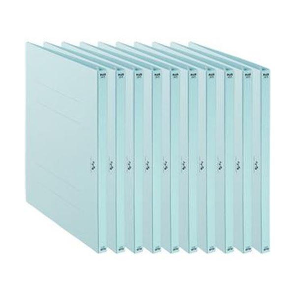 (まとめ)プラス たすけあ 利用者カルテフラットファイル A4タテ ブルー FL-805FF-BL 1パック(10冊)【×20セット】