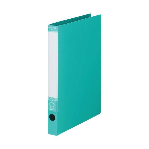 TANOSEE ワンタッチ開閉Oリングファイル A4タテ 2穴 170枚収容 背幅30mm グリーン 1セット(30冊)