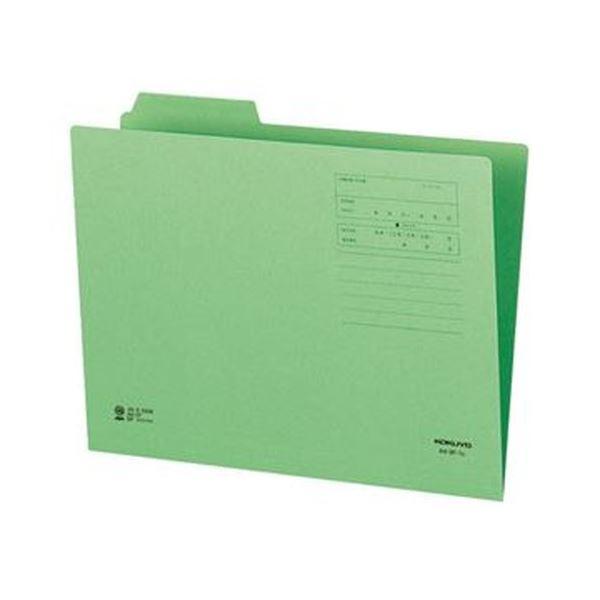 (まとめ)コクヨ 1/3カットフォルダー(カラー)A4 第1見出し 緑 A4-3F-1G 1セット(10冊)【×20セット】