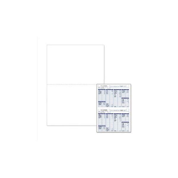 (まとめ)エプソン EPSON 支給明細書(白紙) A4 (2分割ミシン目入り) Q34B 1箱(1000枚)【×3セット】