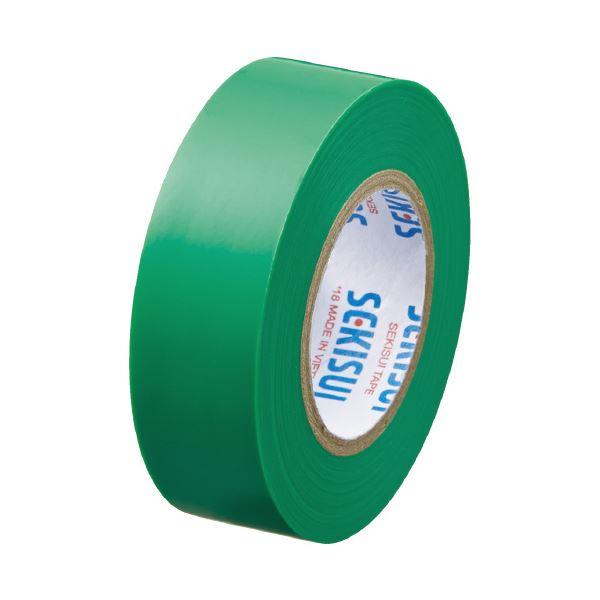 (まとめ)セキスイ エスロンテープ #360 19mm×10m 緑 V360M1N(×100セット)