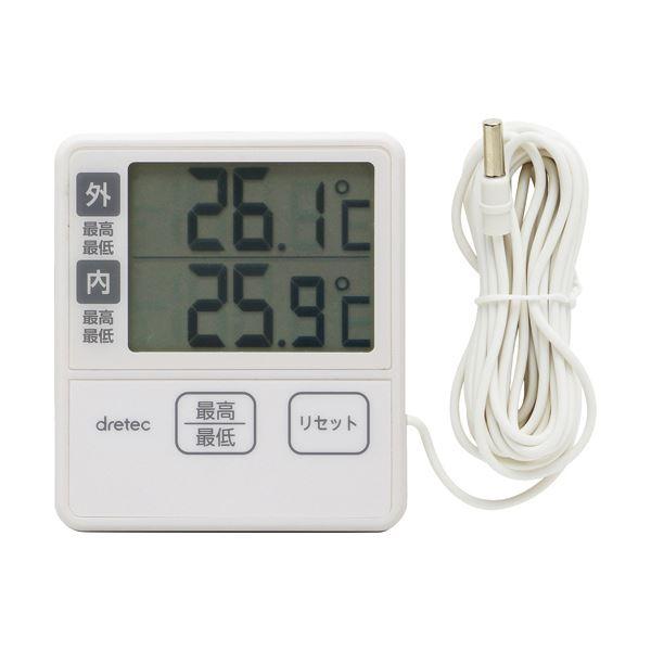 (まとめ)ドリテック 室内室外温度計 アイボリーO-285IV 1個【×5セット】