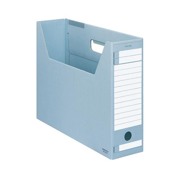 (まとめ) コクヨ ファイルボックス-FS(Dタイプ) B4ヨコ 背幅102mm 青 B4-LFD-B 1セット(5冊) 【×10セット】