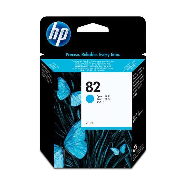 (まとめ) HP82 インクカートリッジ シアン 染料系 C4911A 1個 【×10セット】