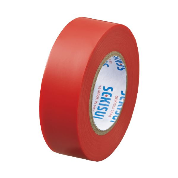 (まとめ)セキスイ エスロンテープ #360 19mm×10m 赤 V360R1N(×100セット)