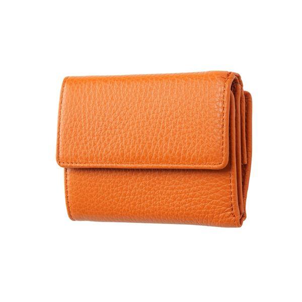 FRUH(フリュー) イタリアンレザー 3つ折り財布 コンパクトウォレット GL032-OR オレンジ