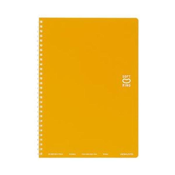 (まとめ)コクヨ ソフトリングノート(ドット入り罫線)セミB5 B罫 40枚 オレンジ ス-SV301BT-YR 1セット(5冊)【×10セット】