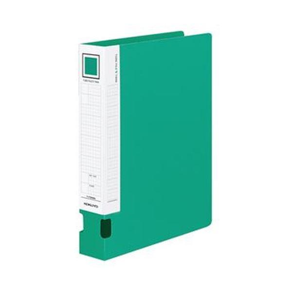 (まとめ)コクヨ チューブファイルVツインA4タテ 400枚収容 40mmとじ 背幅54mm 緑 フ-VT640NG 1セット(4冊)【×3セット】