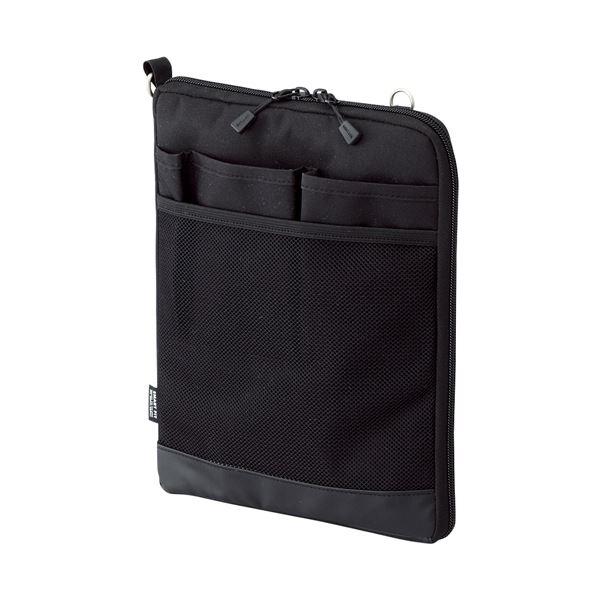 (まとめ) リヒトラブ SMART FITACTACT バッグインバッグ (タテ型) A5 ブラック A-7682-24 1個 【×10セット】