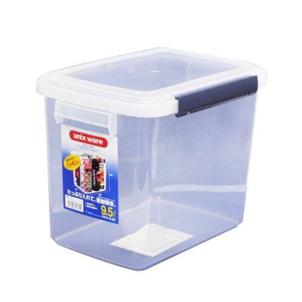 (まとめ) 保存容器/キッチンボックス 【9.5L】 プラスチック製 パッキン付き ユニックス ウィル 【28個セット】