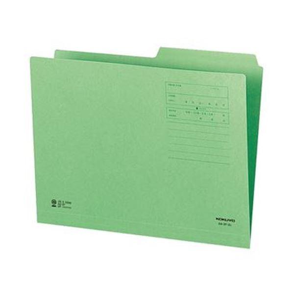 (まとめ)コクヨ 1/2カットフォルダー(カラー)A4 第2見出し 緑 A4-2F-2G 1セット(10冊)【×20セット】