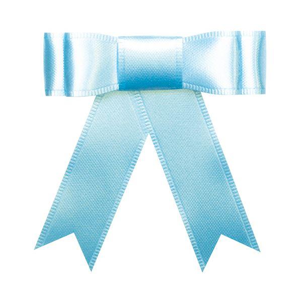 (まとめ) タカ印 プレーンタイリボン ブルー 業務用 35-6868 1パック(50個) 【×10セット】