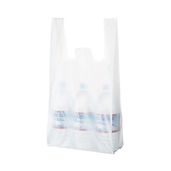 (まとめ) TANOSEE 乳白レジ袋 35号ヨコ260×タテ530×マチ幅130mm 1パック(100枚) 【×50セット】