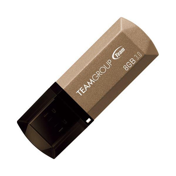 (まとめ) TEAM USB3.0キャップ式USBメモリ8GB TC15538GD01【×10セット】