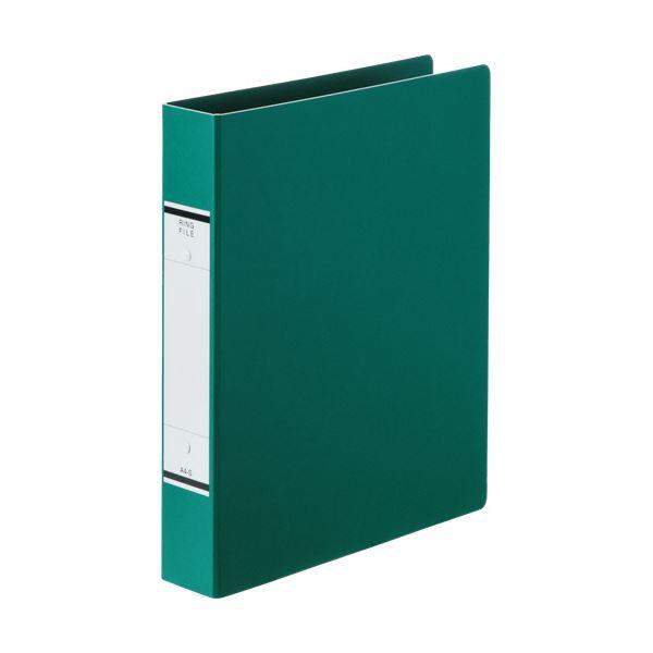 (まとめ) TANOSEEOリングファイル(紙表紙) A4タテ 2穴 320枚収容 背幅52mm 緑 1セット(10冊) 【×10セット】