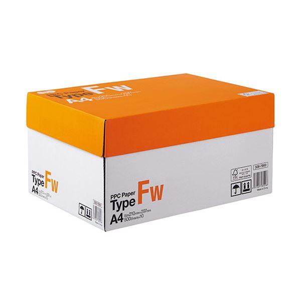 (まとめ) TANOSEE PPC PaperType FW A4 PPCFW-A4 1箱(5000枚:500枚×10冊) 【×5セット】