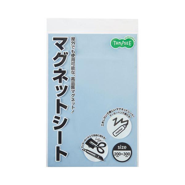 (まとめ)TANOSEE マグネットカラーシートワイド 300×200×0.8mm 空 1枚【×20セット】