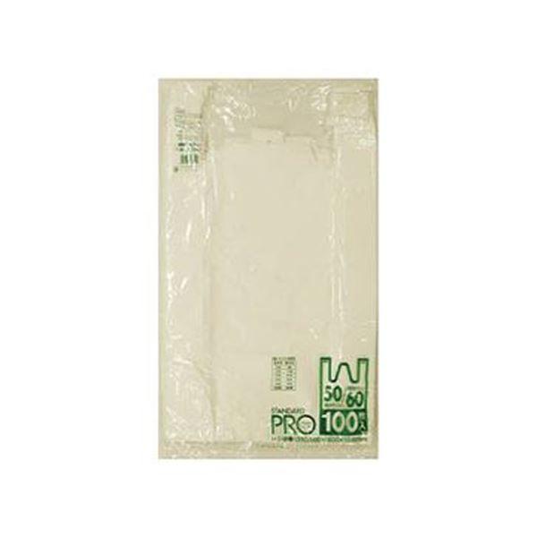 (まとめ)日本サニパックY10Hレジ袋乳白60/50号 Y10H-W 1パック(100枚)【×10セット】