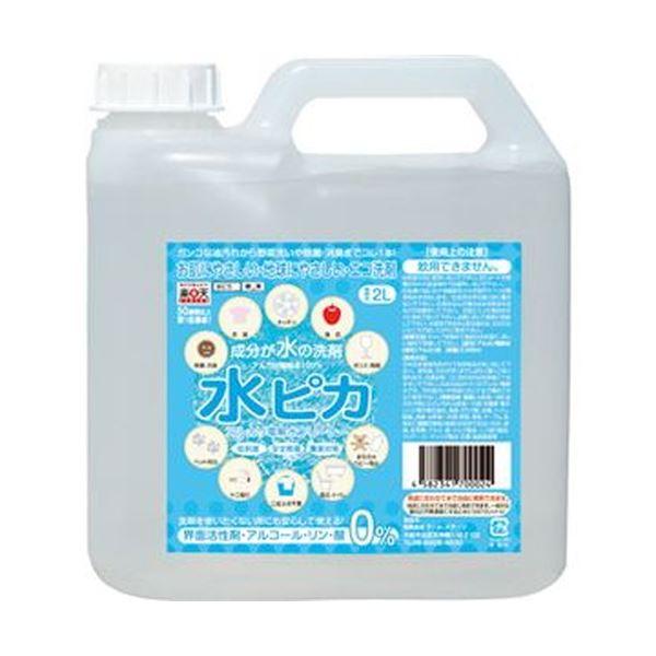 (まとめ)アール・ステージアルカリ電解水クリーナー 水ピカ 業務用 2L 1本【×3セット】