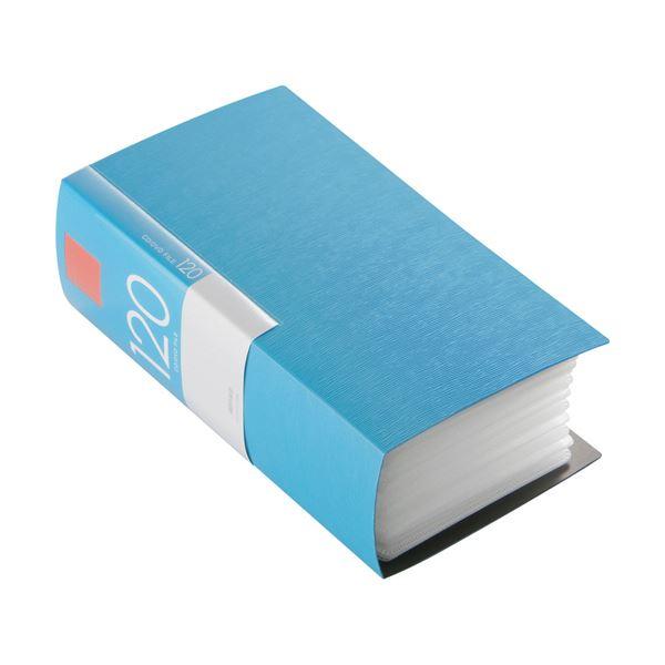 (まとめ) バッファローCD&DVDファイルケース ブックタイプ 120枚収納 ブルー BSCD01F120BL 1個 【×10セット】