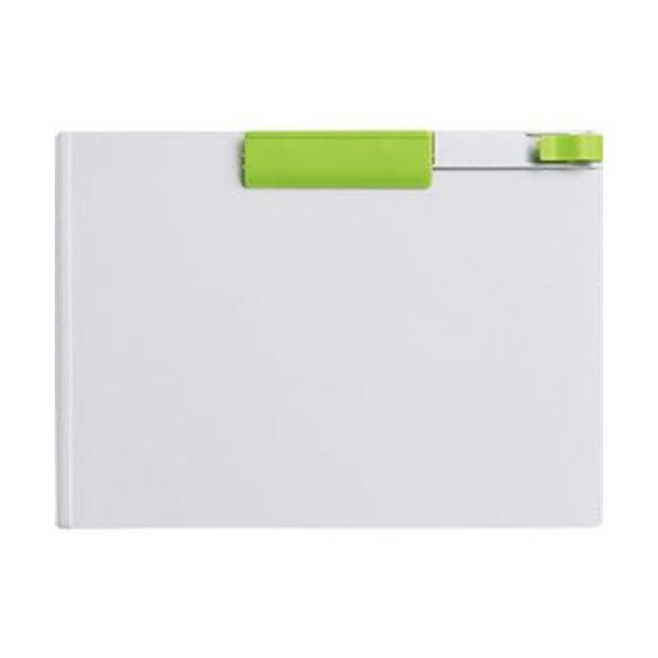 (まとめ)コクヨ クリップボード(K2)A4ヨコ黄緑 K2ヨハ-PS73YG 1セット(10枚)【×5セット】