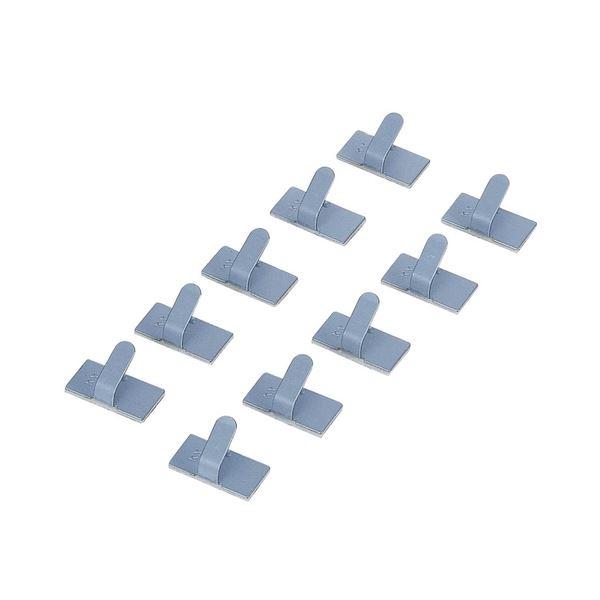 (まとめ) エレコム ケーブル結束フック10×20mm LD-US10 1パック(10個) 【×30セット】