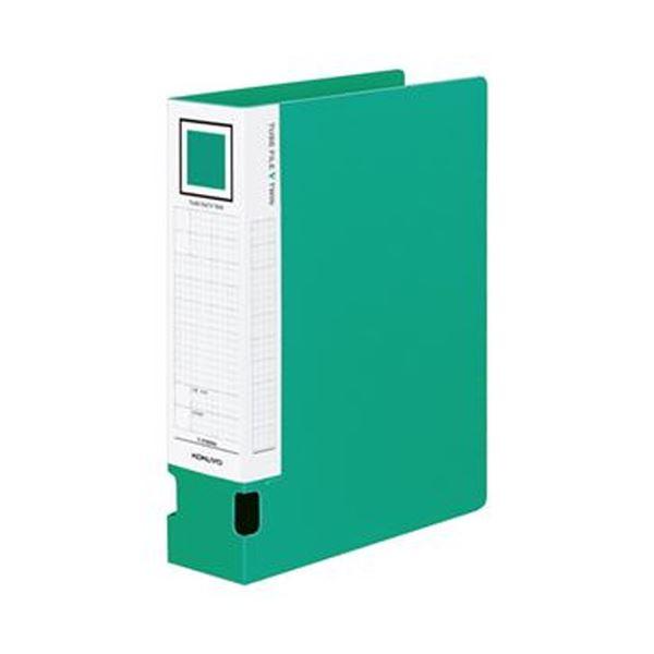 (まとめ)コクヨ チューブファイルVツインA4タテ 600枚収容 60mmとじ 背幅74mm 緑 フ-VT660NG 1セット(4冊)【×3セット】