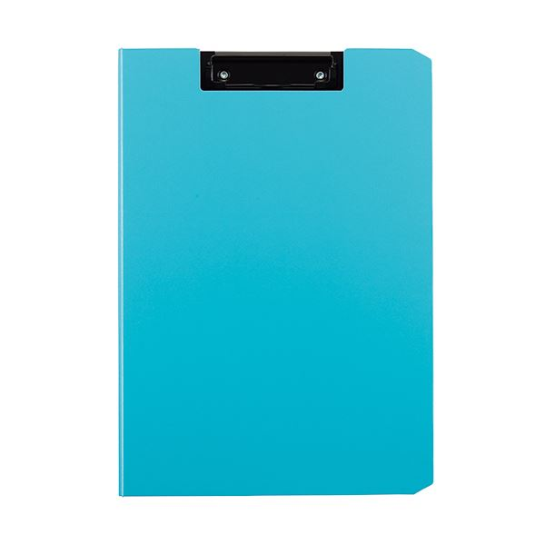 (まとめ) TANOSEE クリップファイルA4タテ ライトブルー 1枚 【×30セット】