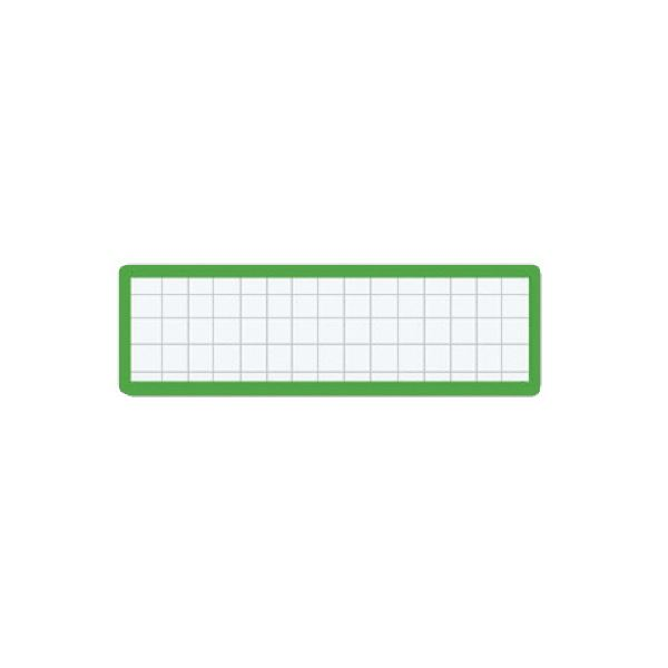 (まとめ)コクヨ マグネット見出し 19×75mm緑 マク-402G 1セット(10個)【×5セット】