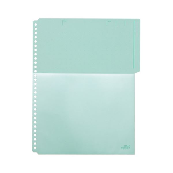 (まとめ) キングジム ハーフポケット A4タテ 30穴 緑 103HP 1パック(10枚) 【×30セット】