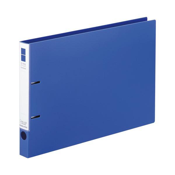 (まとめ)コクヨ リングファイル(スリムスタイル)B4ヨコ 2穴 220枚収容 背幅33mm 青 フ-URF439B 1冊【×10セット】