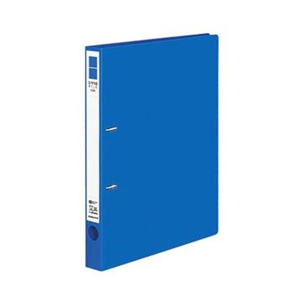 (まとめ)コクヨ Dリングファイル(ER)A4タテ 2穴 200枚収容 背幅34mm 青 フ-UDR420B 1セット(10冊)【×3セット】