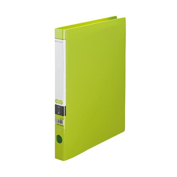 (まとめ) TANOSEE OリングファイルA4タテ 2穴 150枚収容 背幅32mm ライトグリーン 1セット(10冊) 【×10セット】