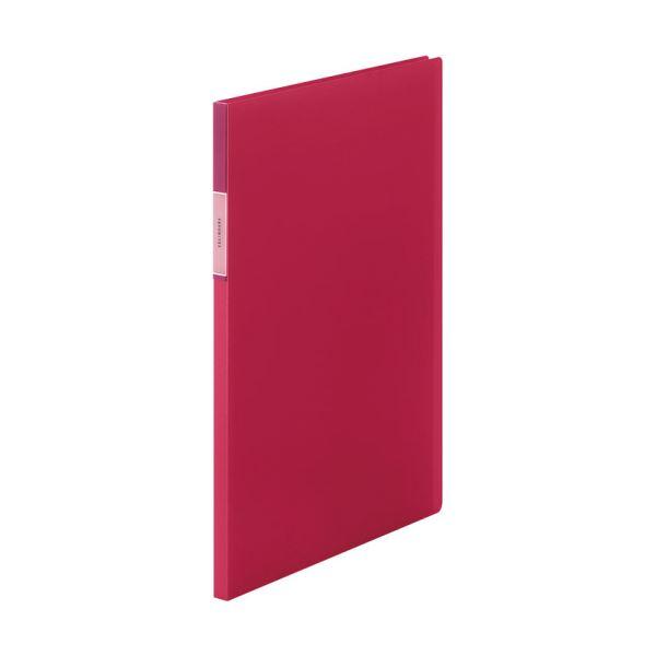 (まとめ)キングジム FAVORITESクリアーファイル(透明) A4タテ 20ポケット 背幅12mm 赤 FV166Tアカ 1冊 【×20セット】