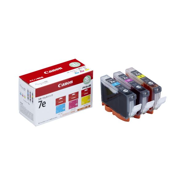 (まとめ) キヤノン Canon インクタンク BCI-7e/3MP 3色マルチパック 1018B004 1箱(3個:各色1個) 【×10セット】