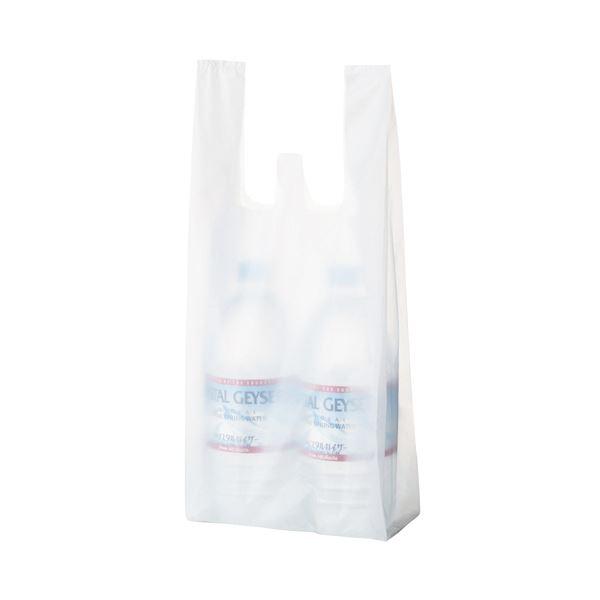 (まとめ) TANOSEE 乳白レジ袋 16号ヨコ190×タテ460×マチ幅120mm 1パック(100枚) 【×50セット】