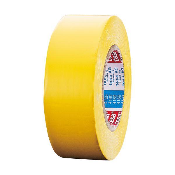 (まとめ) テサテープ ラインテープ 50mm×50m 黄 4169PV8-50キ 1巻 【×5セット】