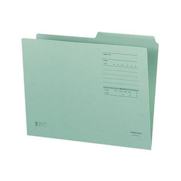 (まとめ)コクヨ 1/2カットフォルダー(カラー・Fタイプ)A4 緑 A4-2FF-G 1セット(10冊)【×20セット】