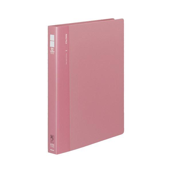 (まとめ) コクヨ リングファイル 発泡PP表紙 A4タテ 30穴 170枚収容 背幅33mm ピンク フ-F470P 1冊 【×10セット】