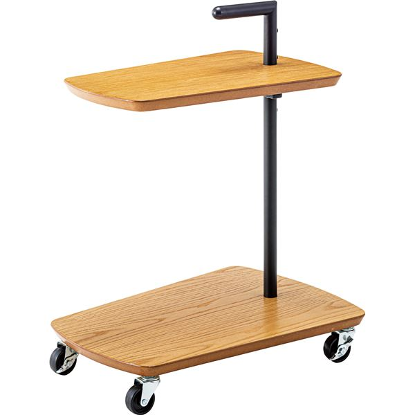キャスター付き ミニテーブル 【幅52.5cm×奥行38cm×高さ65cm】 スチール 『ワゴンサイドテーブル』 〔リビング〕 【組立品】