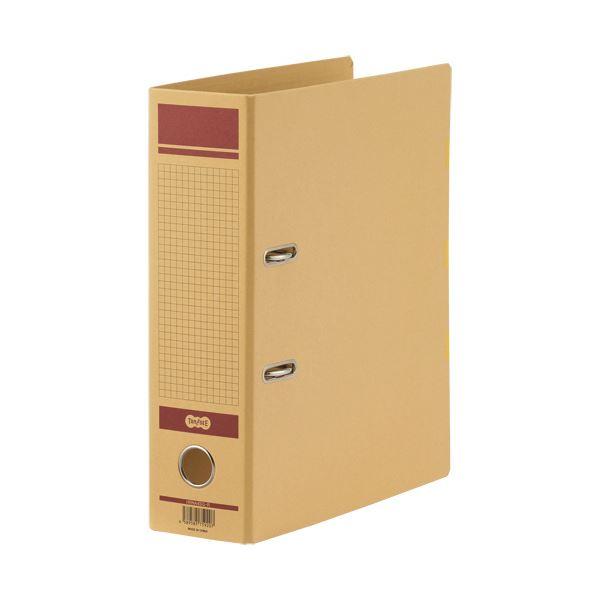 (まとめ)TANOSEE 保存用レバー式アーチファイルN A4タテ 背幅83mm 赤 1冊【×10セット】