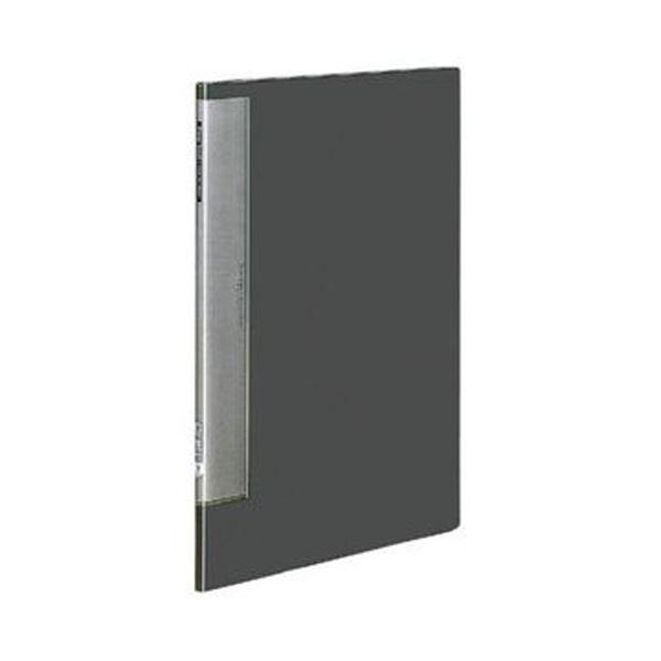 (まとめ)コクヨ クリヤーブック(ウェーブカットポケット・固定式)B4タテ 10ポケット 背幅10mm ダークグレー ラ-T554DM 1セット(4冊)【×3セット】