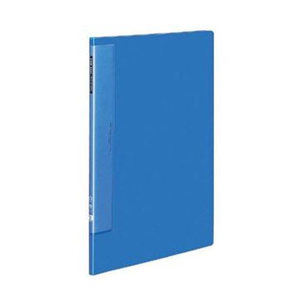 (まとめ)コクヨ クリヤーブック(ウェーブカットポケット・固定式)B4タテ 10ポケット 背幅10mm 青 ラ-T554B 1セット(4冊)【×3セット】