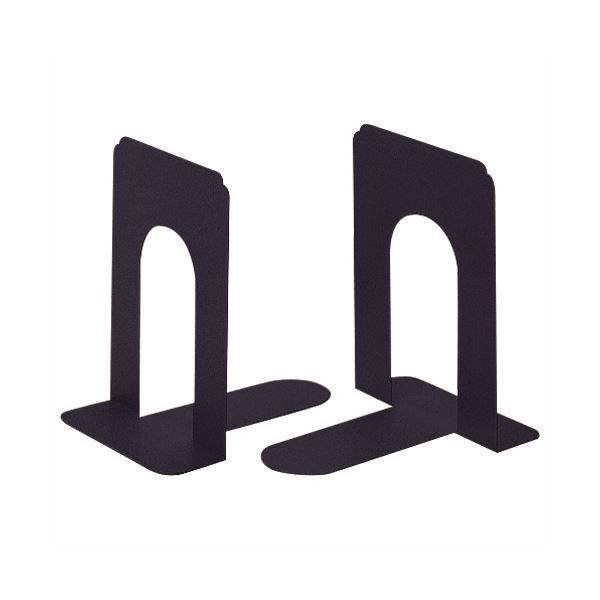 (まとめ) ライオン事務器 ブックエンド T型 小ブラック NO.5 1組(2枚) 【×10セット】