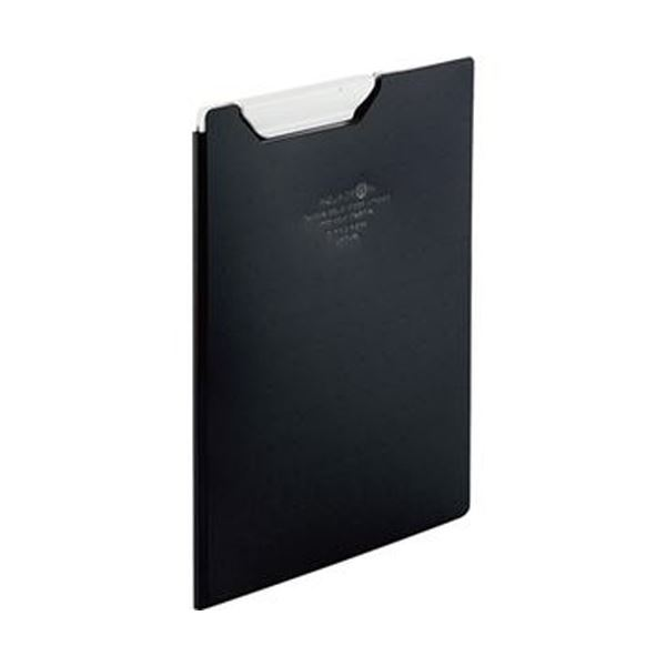 (まとめ)リヒトラブ AQUA DROPsクリップファイル A5 黒(不透明)F-5065-24 1枚【×20セット】