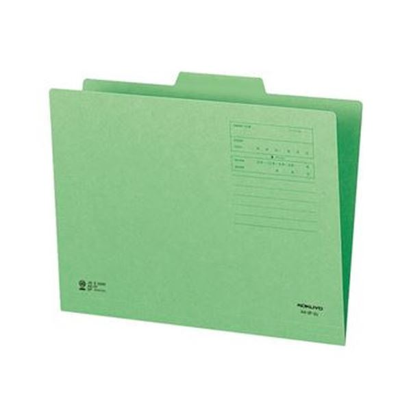 (まとめ)コクヨ 1/3カットフォルダー(カラー)A4 第2見出し 緑 A4-3F-2G 1セット(10冊)【×20セット】