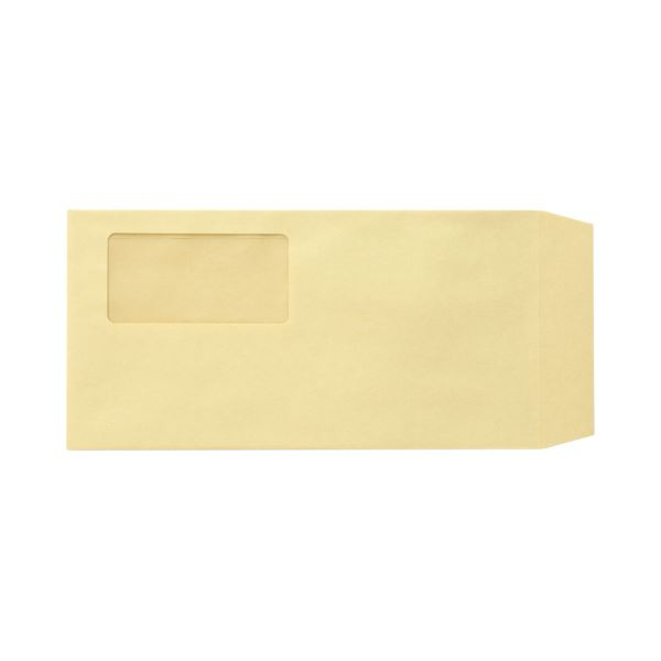 (まとめ) TANOSEE 窓付封筒 ワンタッチテープ付 長3 70g/m2 クラフト 1パック(100枚) 【×10セット】
